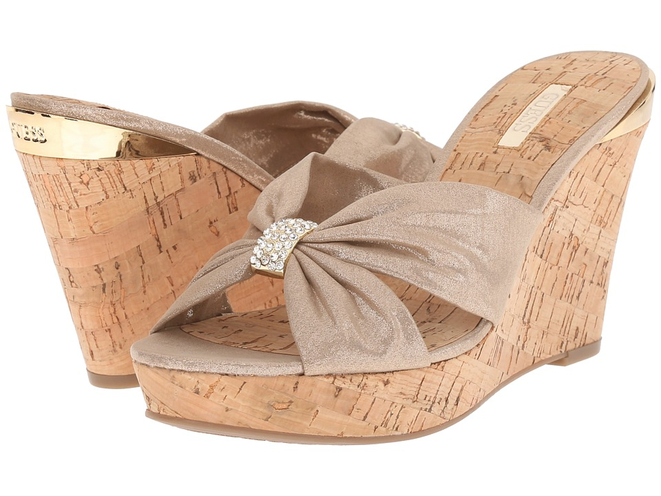GUESS - Betzy (Natural) Women's Wedge Shoes