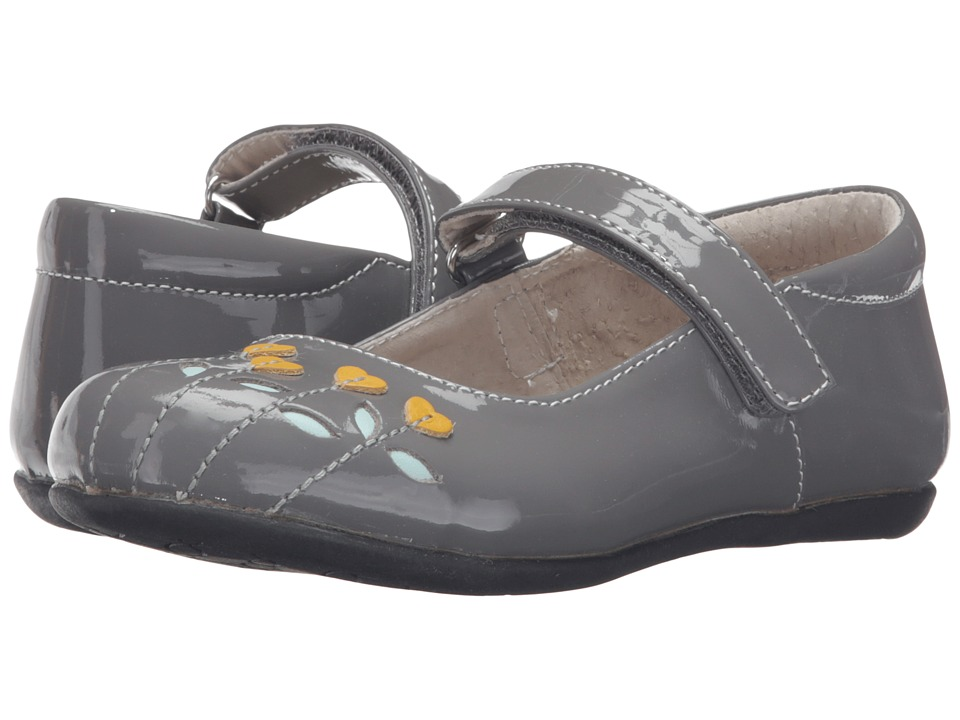 See Kai Run Kids - Tricia (Toddler/Little Kid) (Gray Patent/Yellow) Girl's Shoes