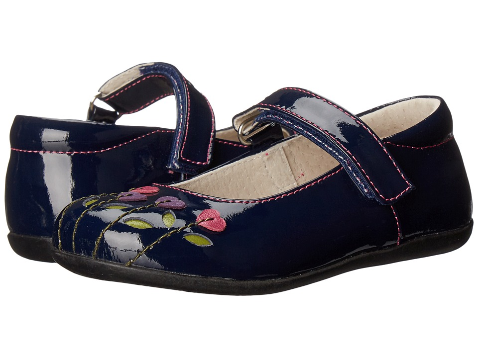 See Kai Run Kids - Tricia (Toddler/Little Kid) (Navy Patent/Berry) Girl's Shoes