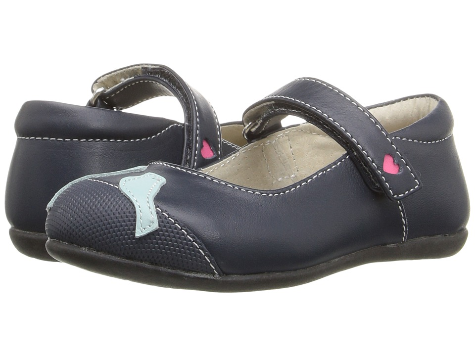 See Kai Run Kids - Kathryn II (Toddler/Little Kid) (Navy/Light Blue) Girl's Shoes