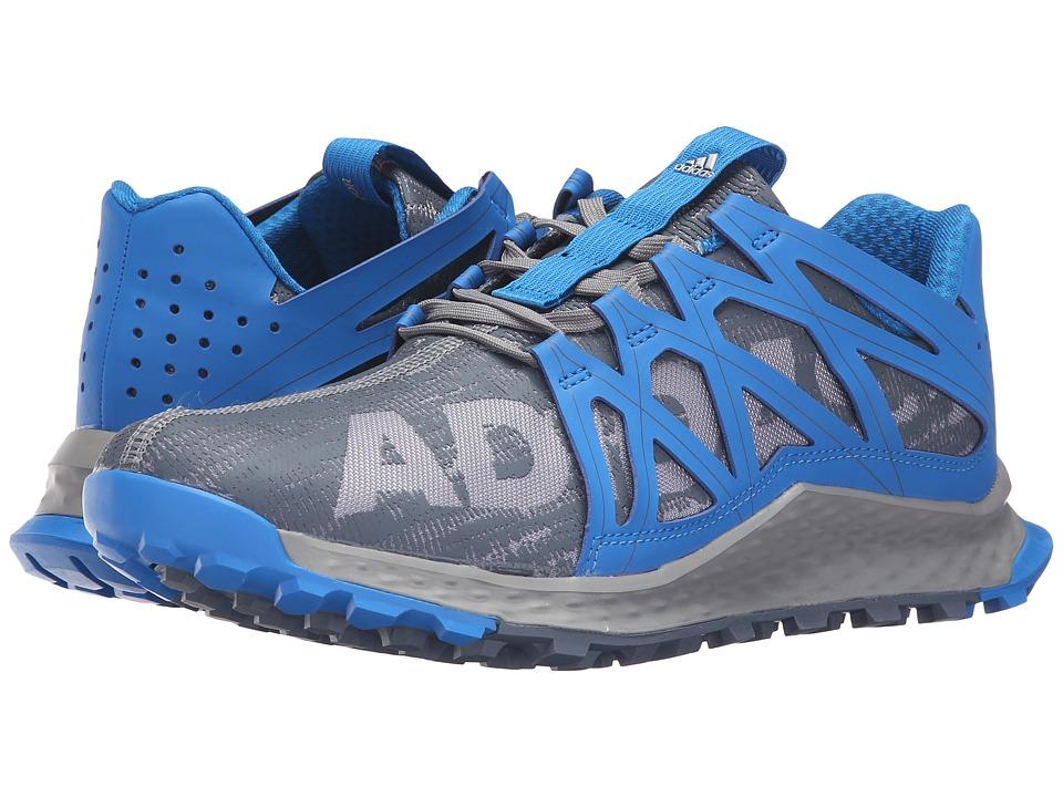 adidas Running - Vigor Bounce (Grey/Onix/Shock Blue) Men's Running Shoes
