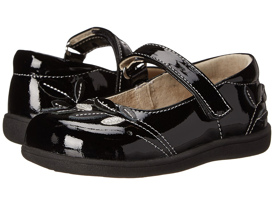 See Kai Run Kids - Adeline (Toddler/Little Kid) (Black Patent) Girl's Shoes
