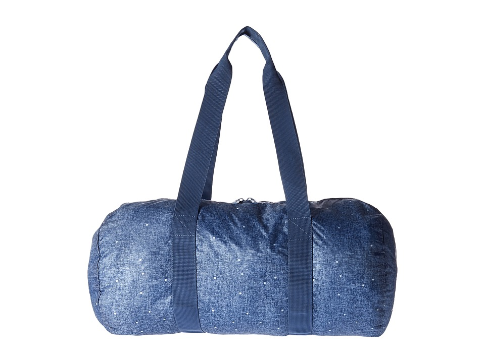 Herschel Supply Co. - Packable Duffle (Limoges Crosshatch/White Polka Dot) Duffel Bags