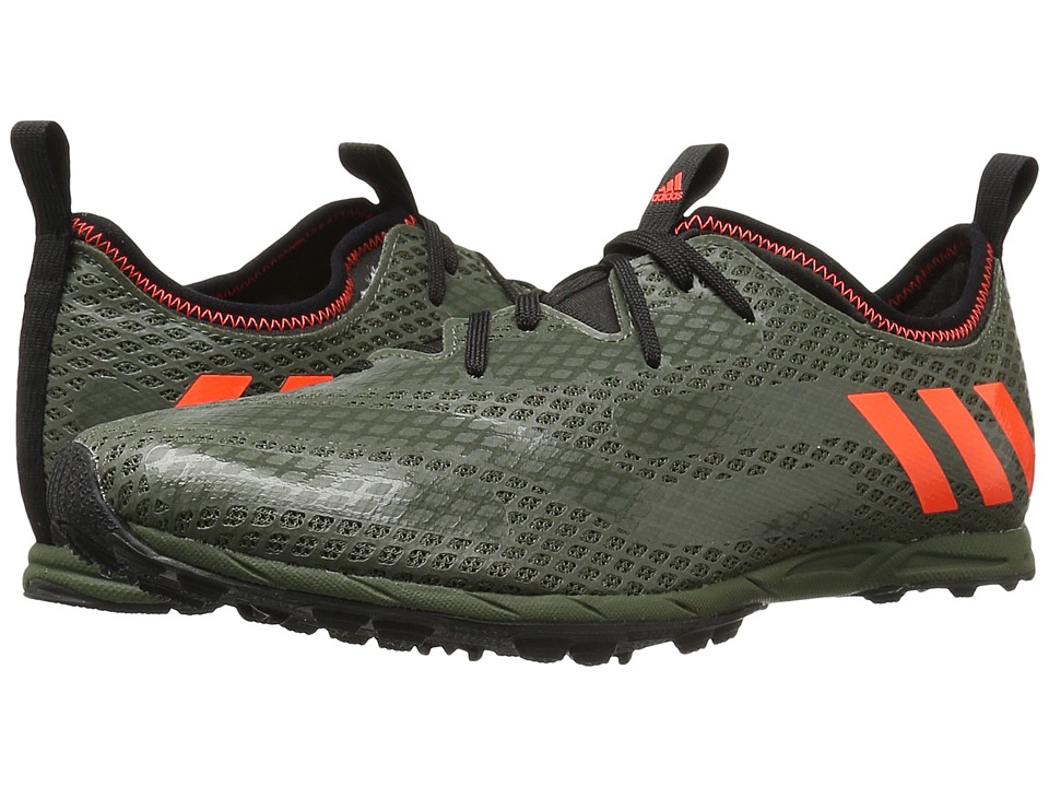 adidas Running - XCS Spikeless (Base Green/Solar Red/Clear Brown) Men's Track Shoes