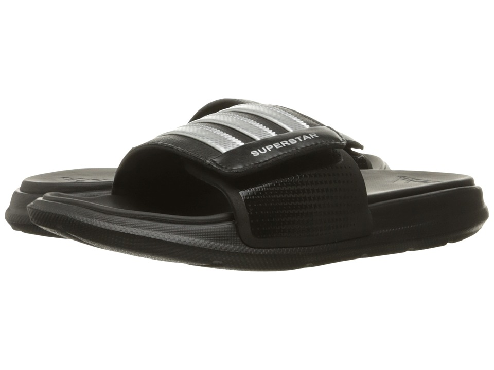 adidas - Superstar 4G M (Black/Silver Metallic Silver) Men's Slide Shoes