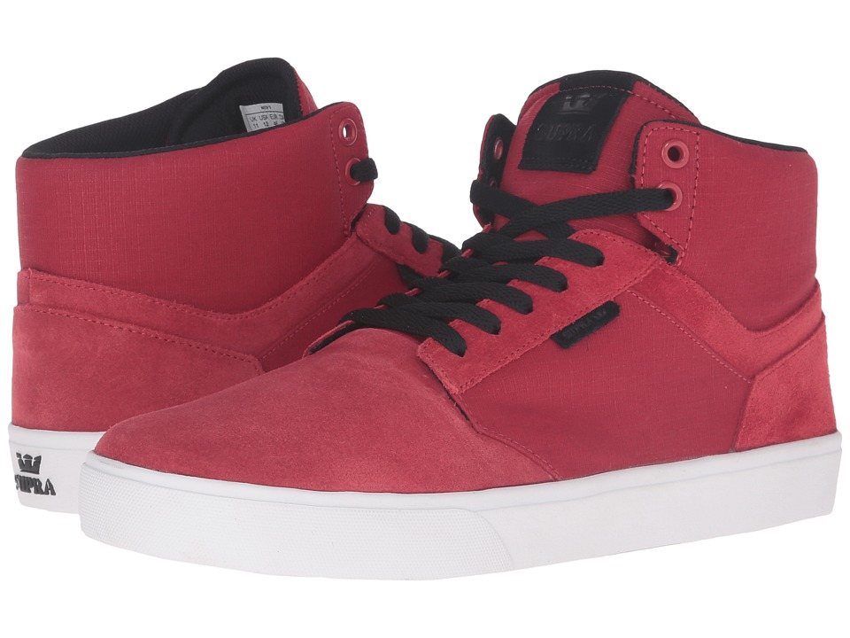 Supra - Yorek Hi (Red Suede) Men's Skate Shoes