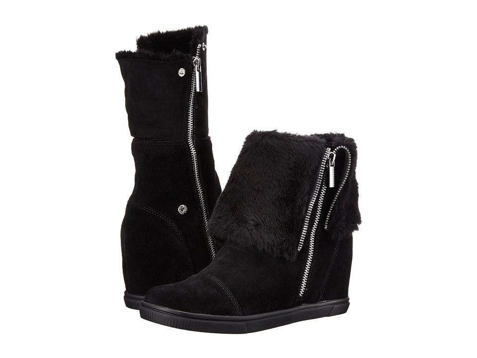 Aerosoles - City Street (Black Suede) Women's Zip Boots