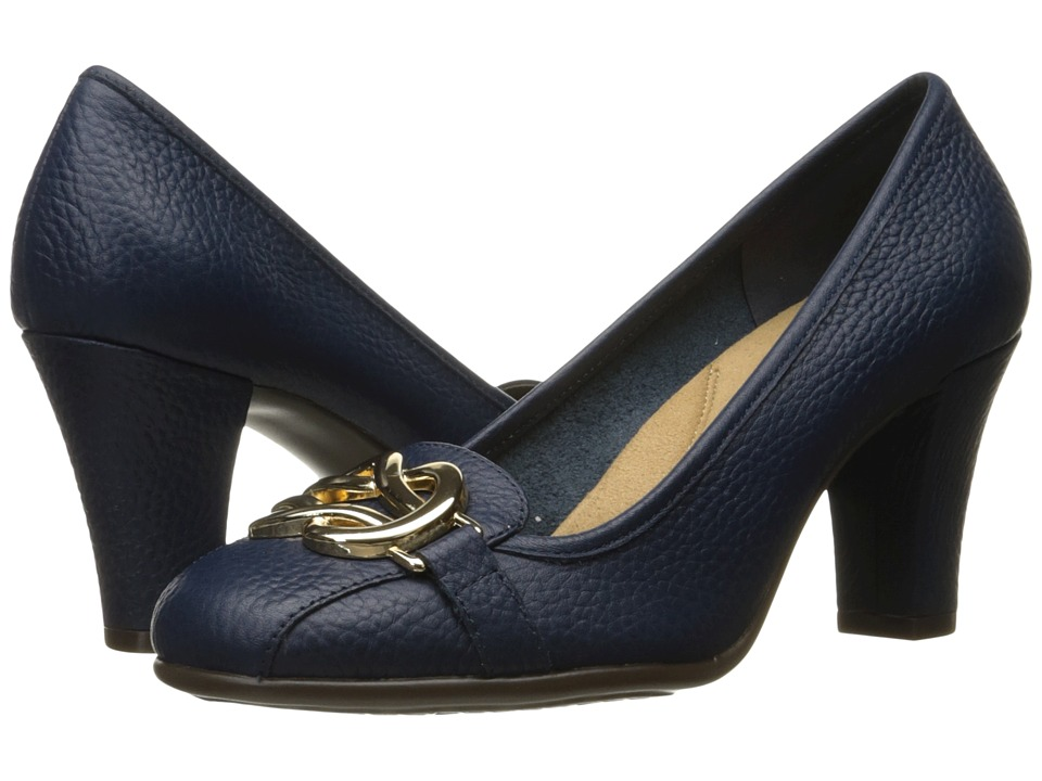Aerosoles - Enrollment (Dark Blue Leather) High Heels