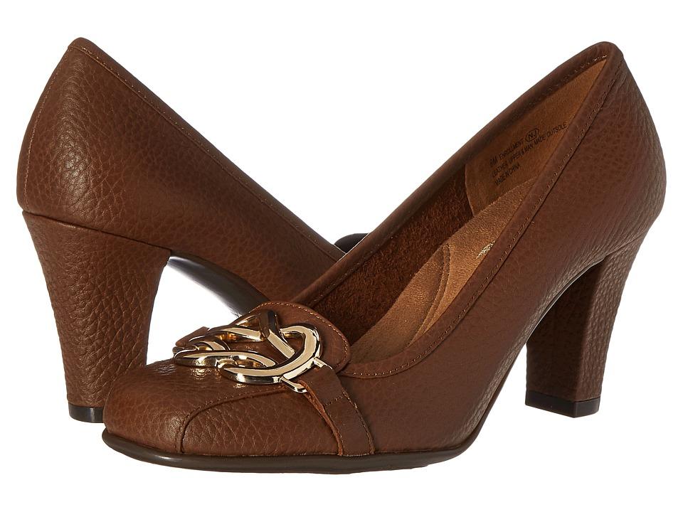 Aerosoles - Enrollment (Dark Tan Leather) High Heels