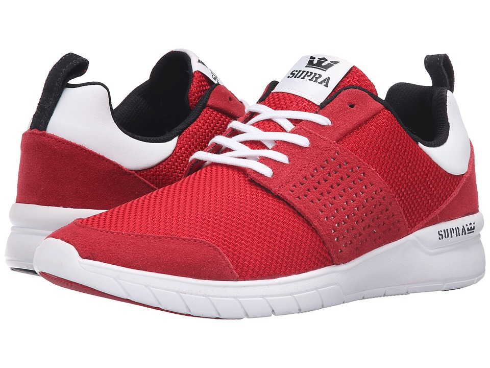 Supra - Scissor (Red Mesh) Men's Skate Shoes