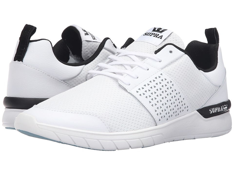 Supra - Scissor (White Leather) Men's Skate Shoes