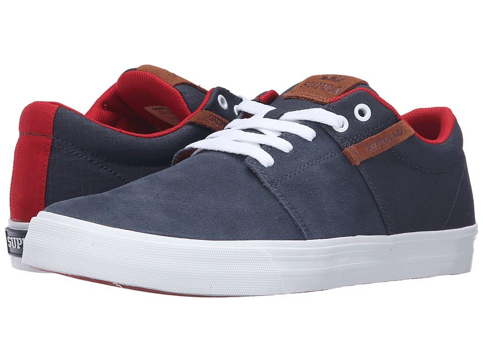 Supra - Stacks Vulc II (Navy Suede) Men's Skate Shoes