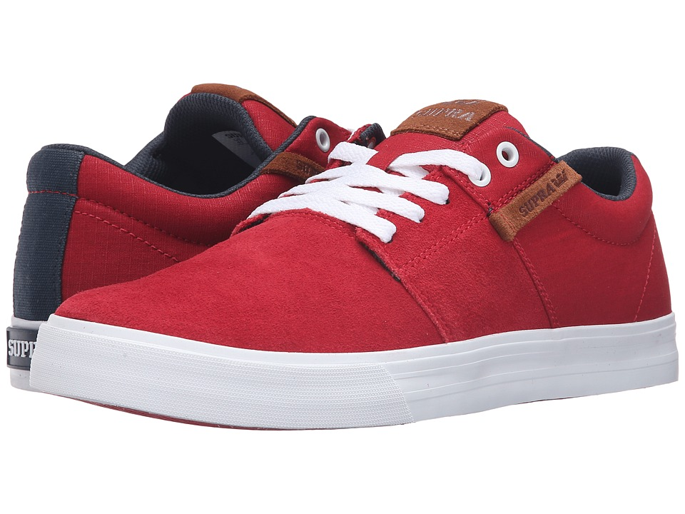 Supra - Stacks Vulc II (Red Suede) Men's Skate Shoes