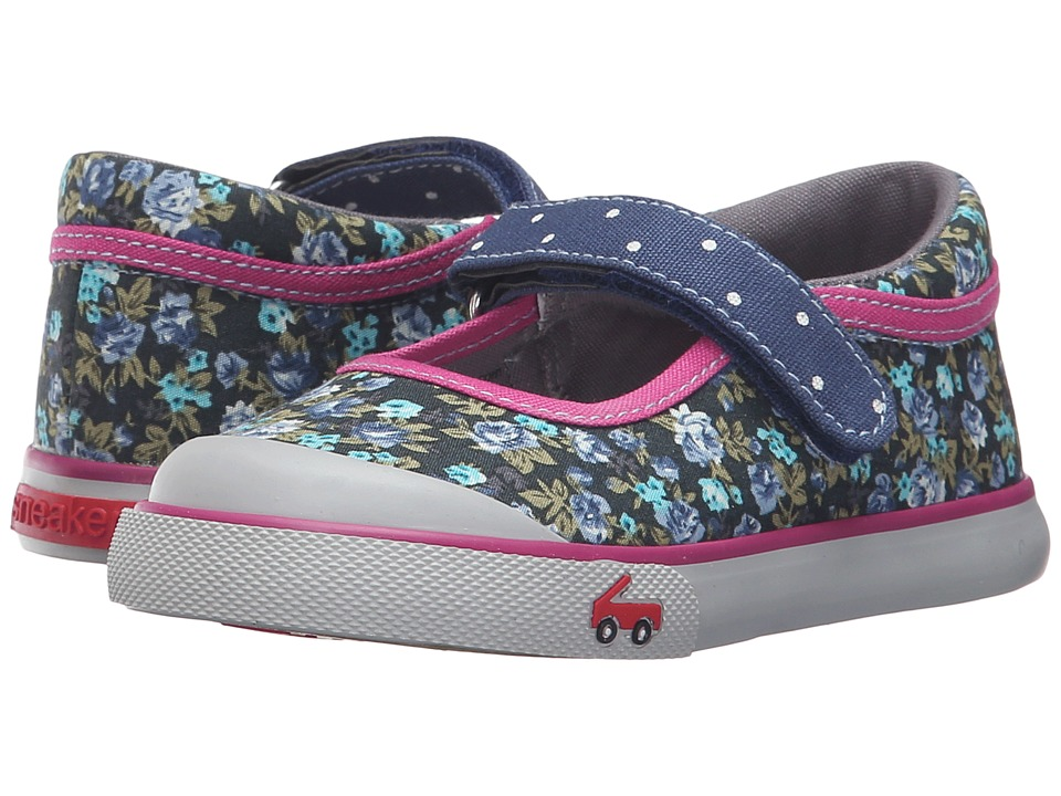 See Kai Run Kids - Marie (Toddler) (Navy/Berry) Girls Shoes
