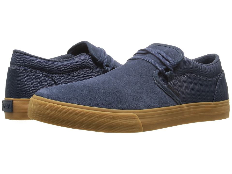 Supra - Cuba (Navy Suede) Men's Skate Shoes
