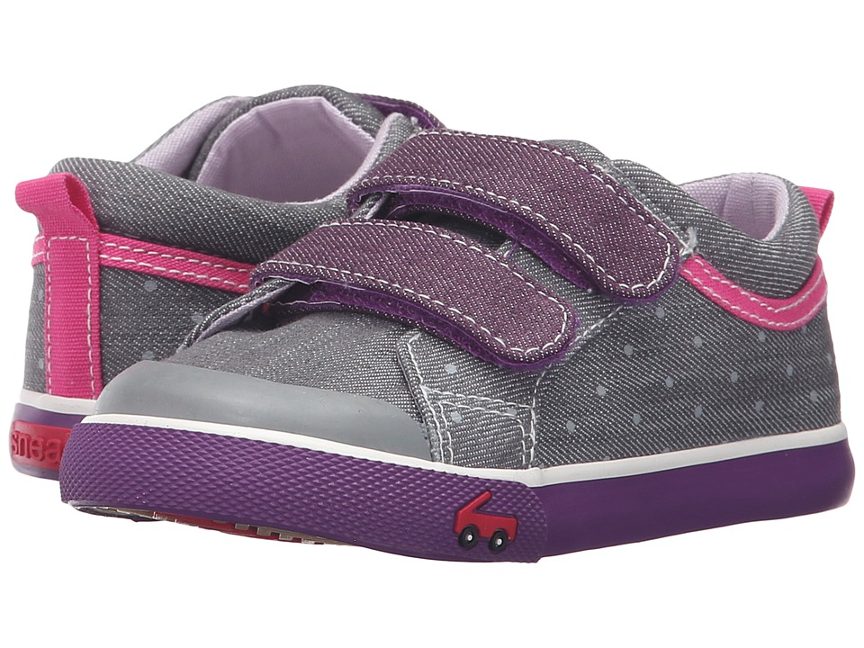See Kai Run Kids - Robyne (Toddler) (Gray/Purple) Girls Shoes