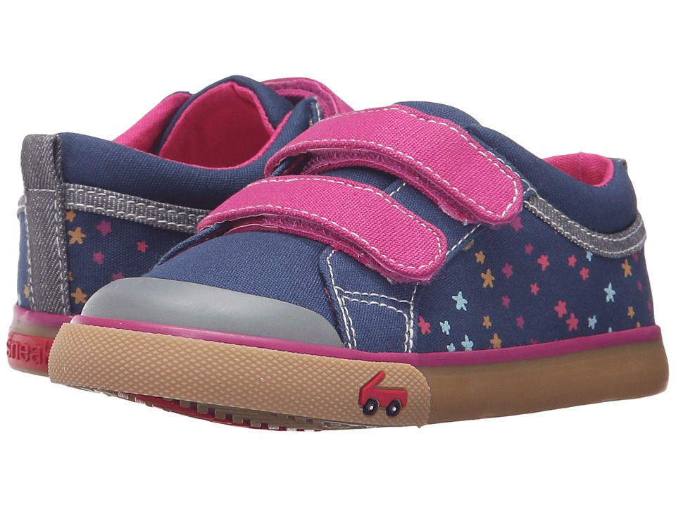 See Kai Run Kids - Robyne (Toddler) (Navy/Berry) Girls Shoes