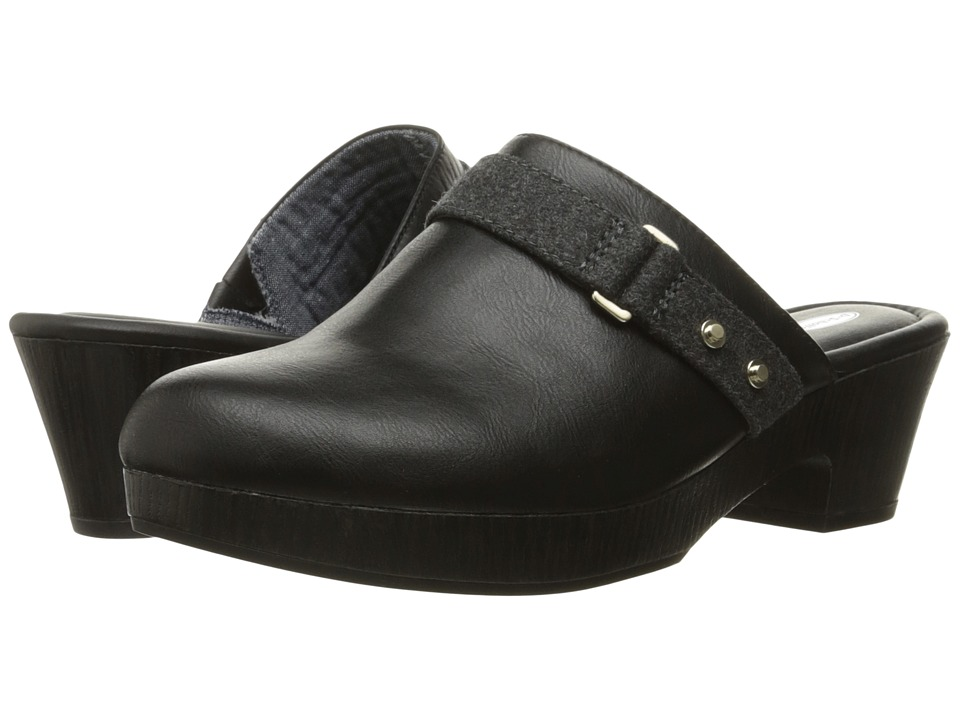 Dr. Scholl's - Jessa (Black/Dark Charcoal Flannel) Women's Shoes