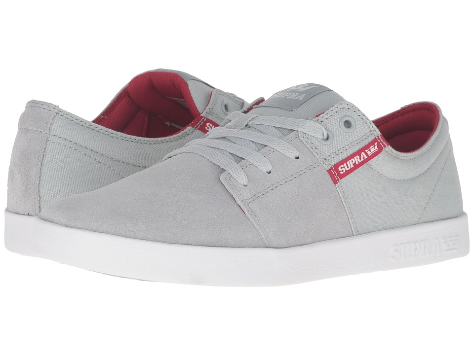 Supra - Stacks II (Light Grey Suede) Men's Skate Shoes