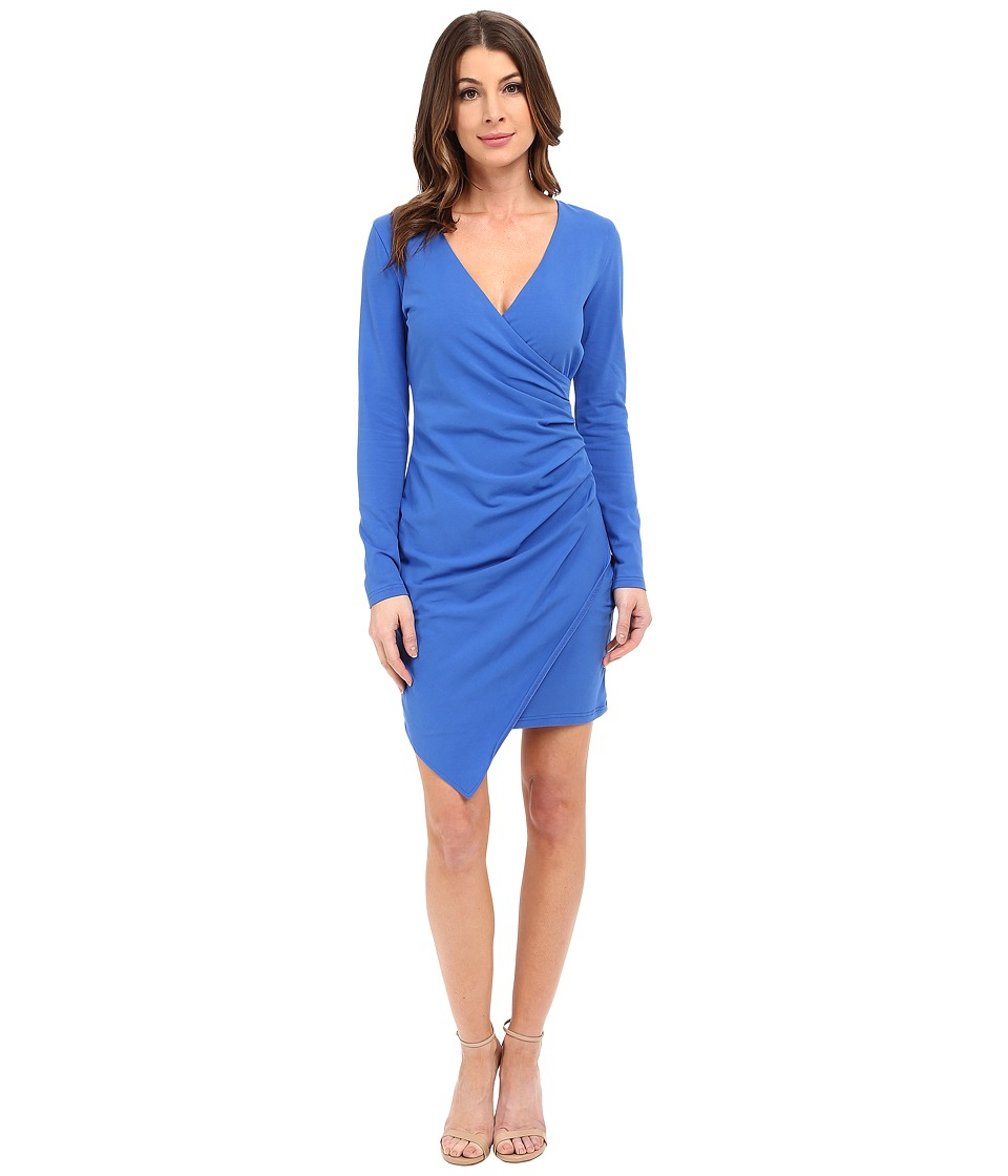 Adelyn Rae - Ruched Jersey Sheath Dress (Blue) Women's Dress