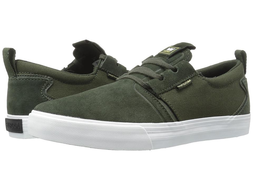 Supra - Flow (Dark Green Suede) Men's Skate Shoes