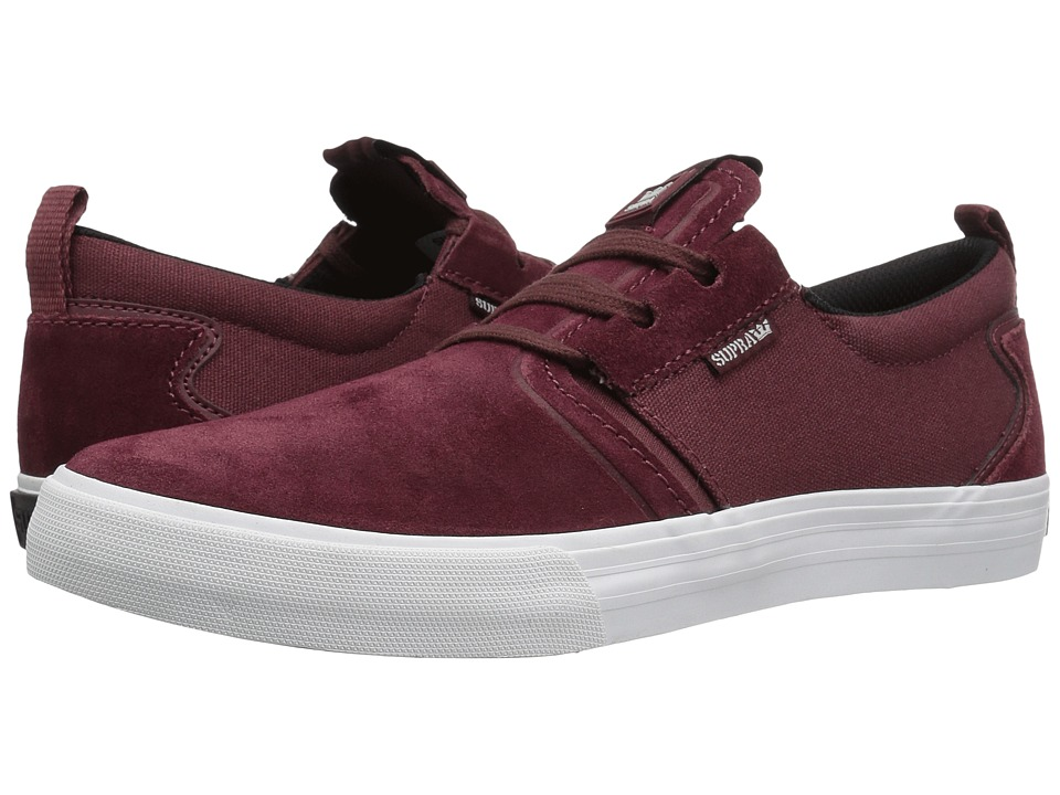 Supra - Flow (Burgundy Suede) Men's Skate Shoes