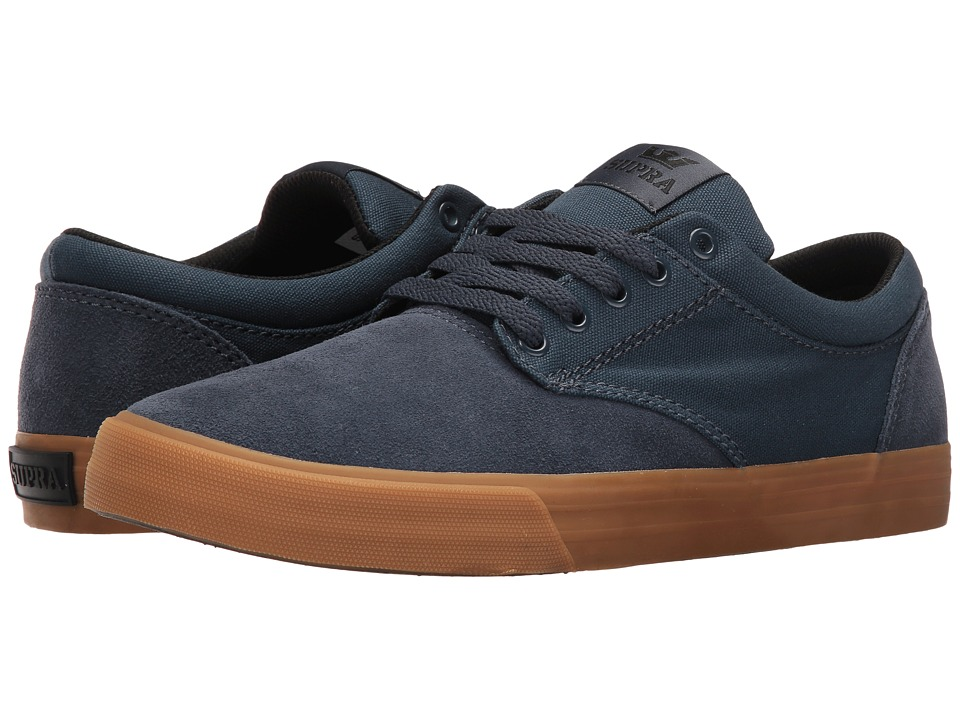 Supra - Chino (Navy Suede) Men's Skate Shoes