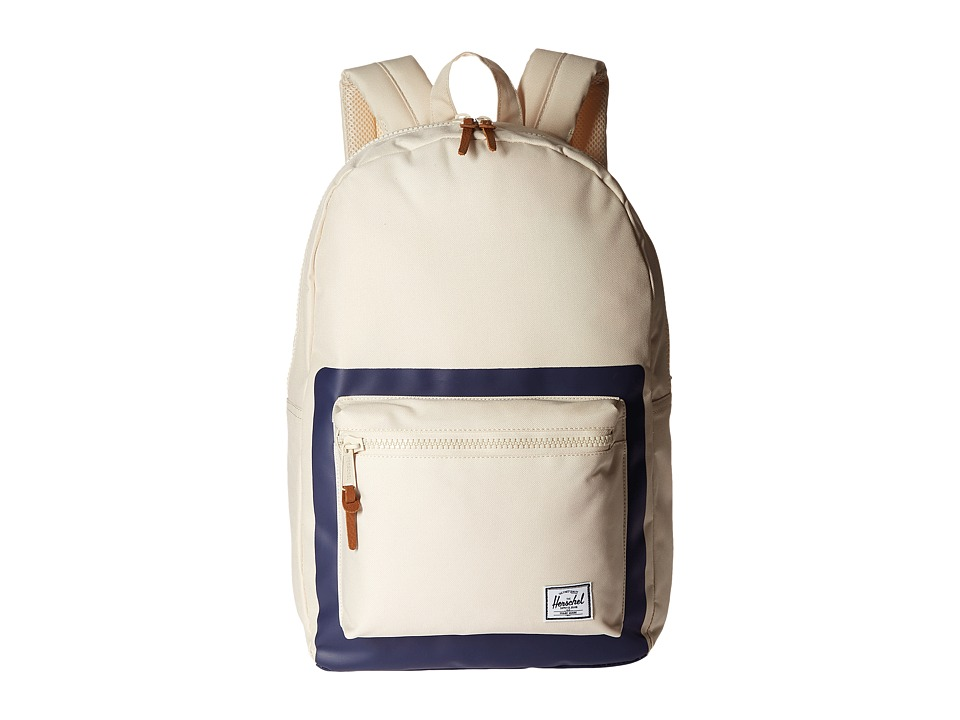 Herschel Supply Co. - Settlement (Natural/Peacoat Block Print) Backpack Bags