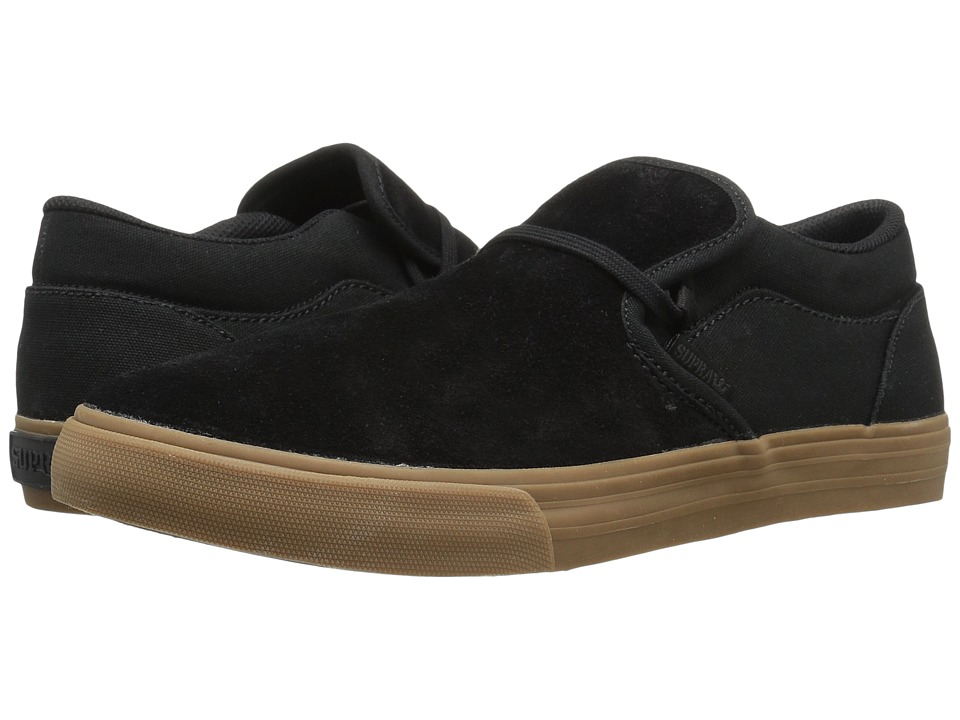 Supra - Cuba (Black Suede/Canvas 1) Men's Skate Shoes
