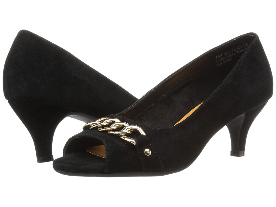 Aerosoles - Made Of Honor (Black Suede) High Heels