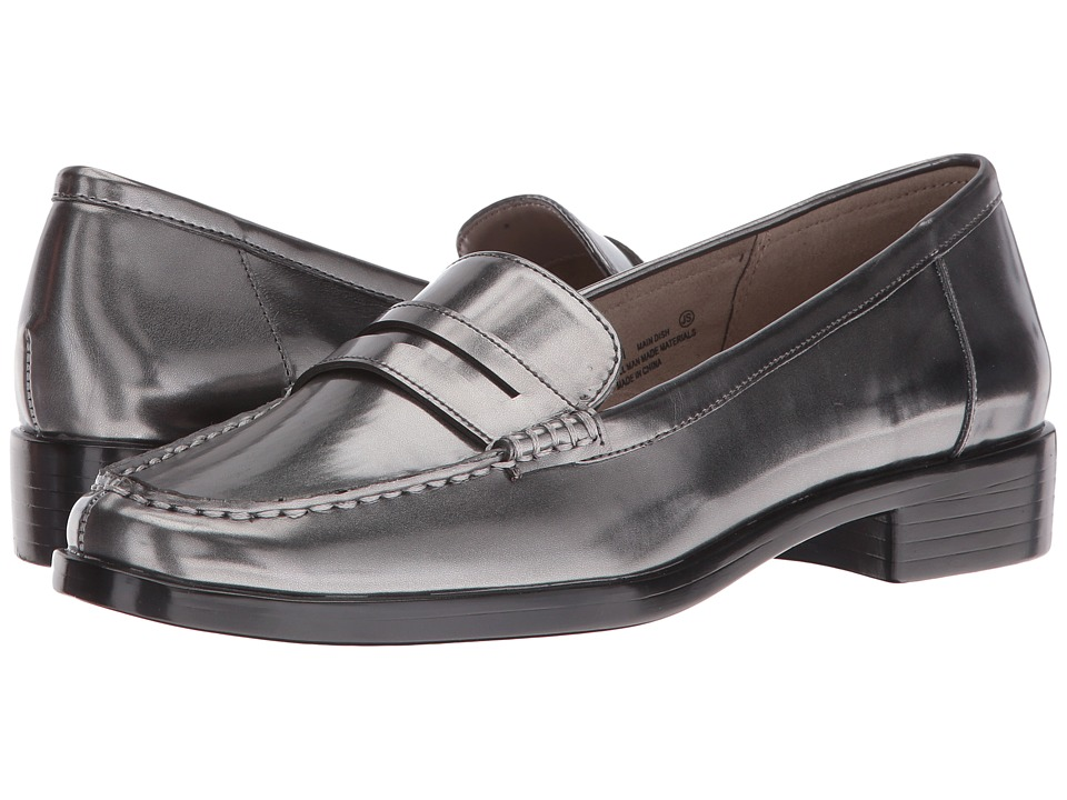 Aerosoles - Main Dish (Dark Silver Metal) Women's Slip-on Dress Shoes