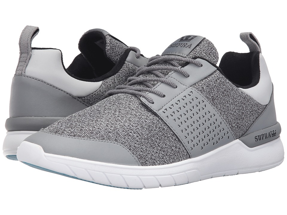 Supra - Scissor (Light Grey Reflective Leather) Men's Skate Shoes