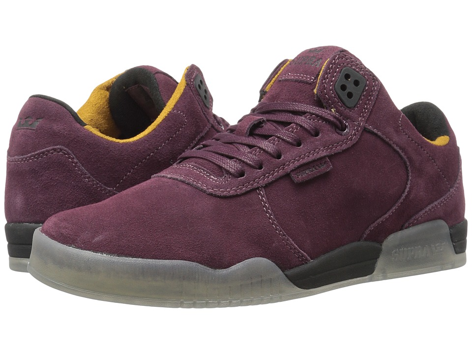 Supra - Ellington (Burgundy Suede) Men's Shoes