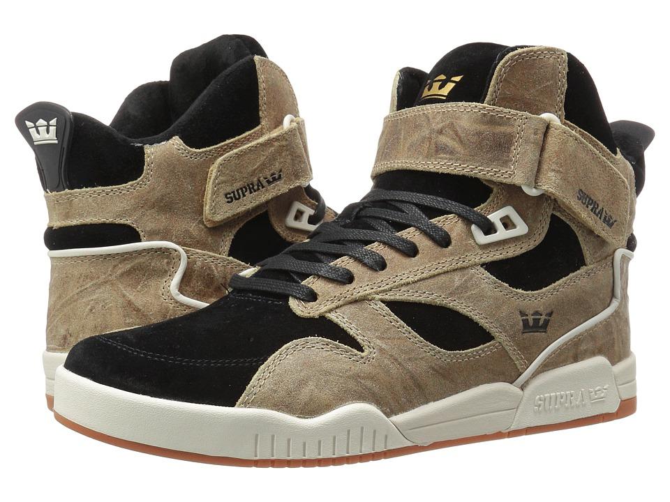 Supra - Bleeker (Tan/Black/Off White Leather) Men's Skate Shoes