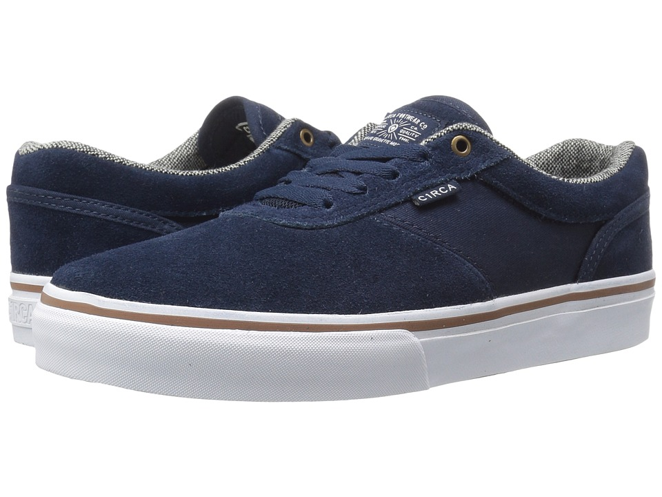 Circa - Gravette (Dress Blues/White) Men's Skate Shoes