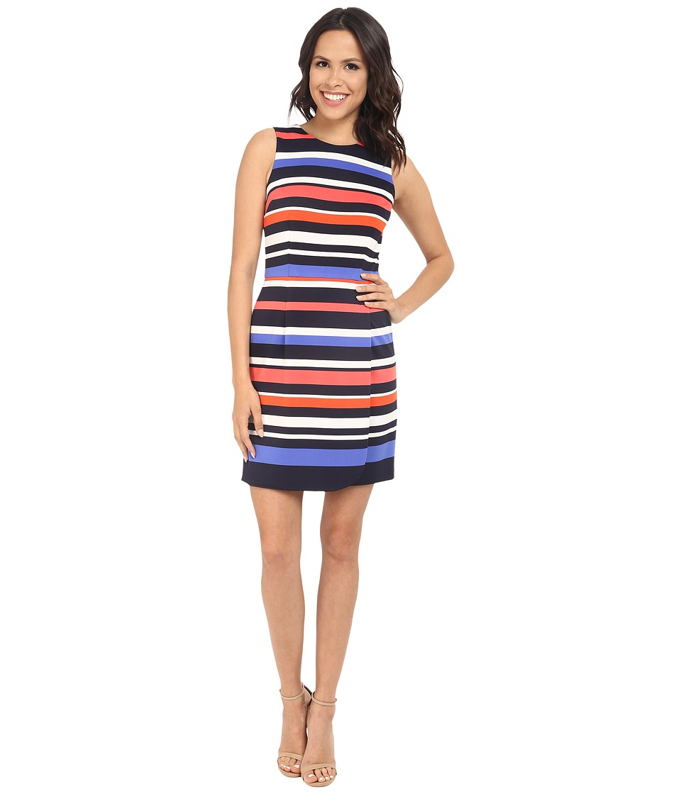 Vince Camuto - Printed Scuba Sleeveless Straight Body w/ Wrap Skirt (Print) Women's Dress