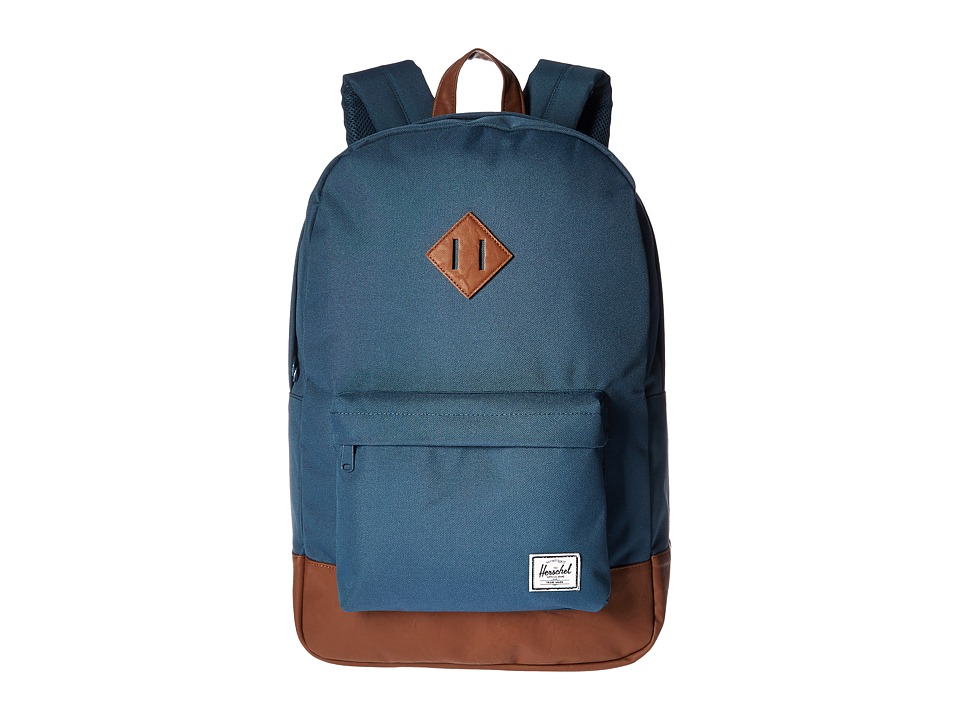Herschel Supply Co. - Heritage (Indian Teal/Tan Synthetic Leather) Backpack Bags