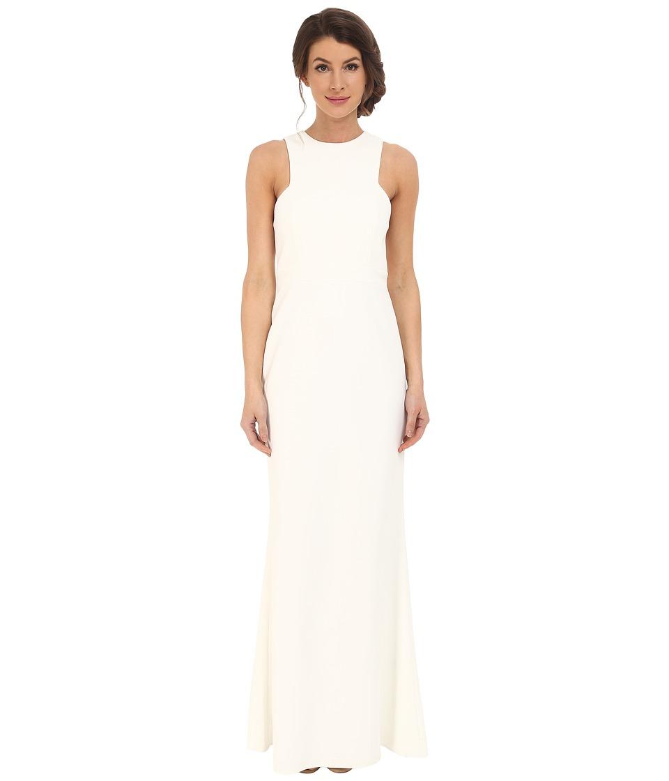 JILL JILL STUART Sleeveless Fitted Elastaine Gown (Off-White) Women
