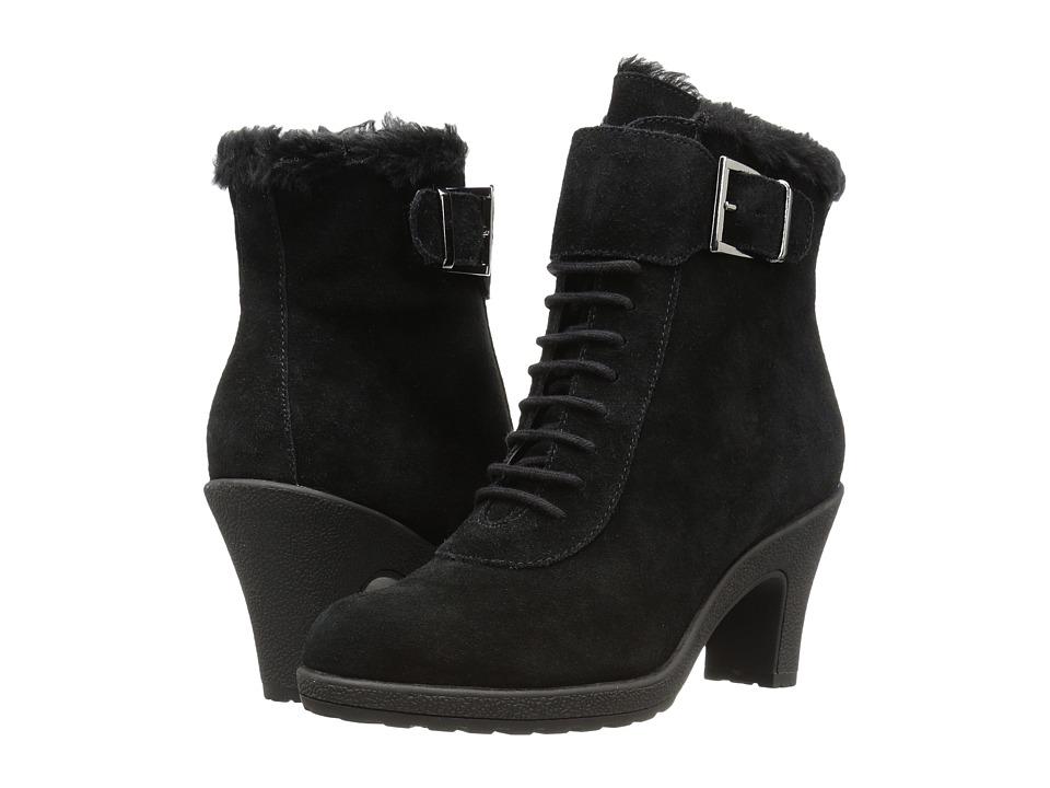 Aerosoles - Rufflection (Black Suede) Women's Lace-up Boots