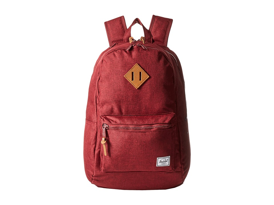 Herschel Supply Co. - Lennox (Winetasting Crosshatch/Tan Pebbled Leather) Backpack Bags