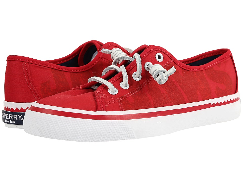 Sperry - JAWS Seacoast Sneaker (Red) Women's Lace up casual Shoes