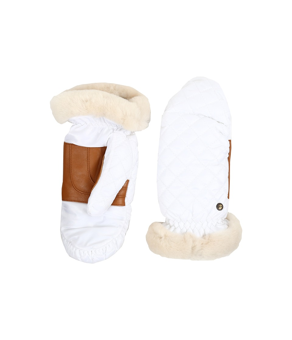 UGG - Quilted Fabric Mitten (White Multi) Extreme Cold Weather Gloves