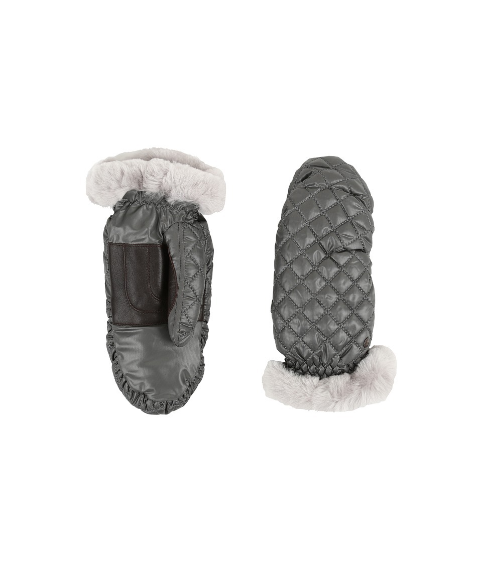 UGG - Quilted Fabric Mitten (Grey Multi) Extreme Cold Weather Gloves