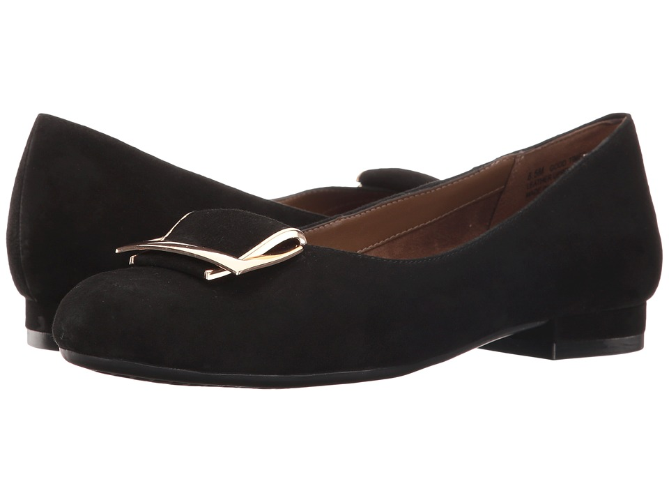 Aerosoles - Good Times (Black Suede) Women's Flat Shoes