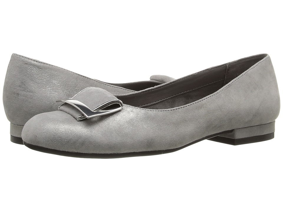 Aerosoles - Good Times (Silver Leather) Women's Flat Shoes
