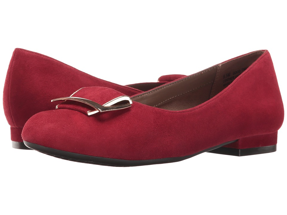 Aerosoles - Good Times (Dark Red Suede) Women's Flat Shoes