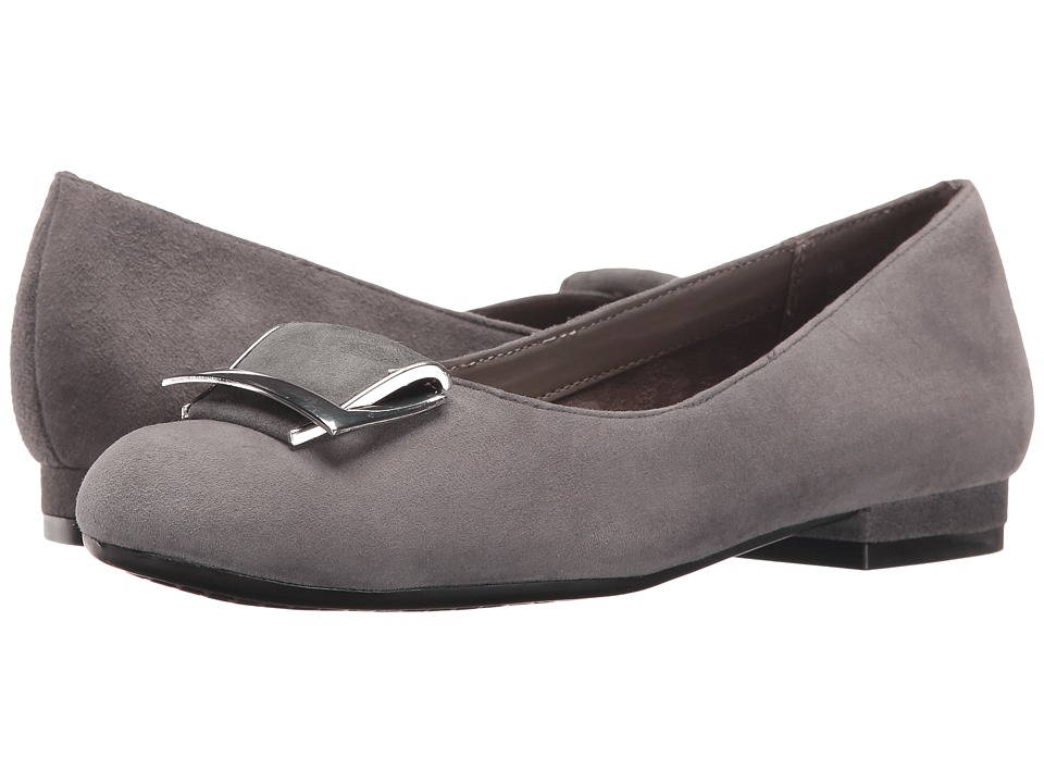 Aerosoles - Good Times (Dark Gray Suede) Women's Flat Shoes
