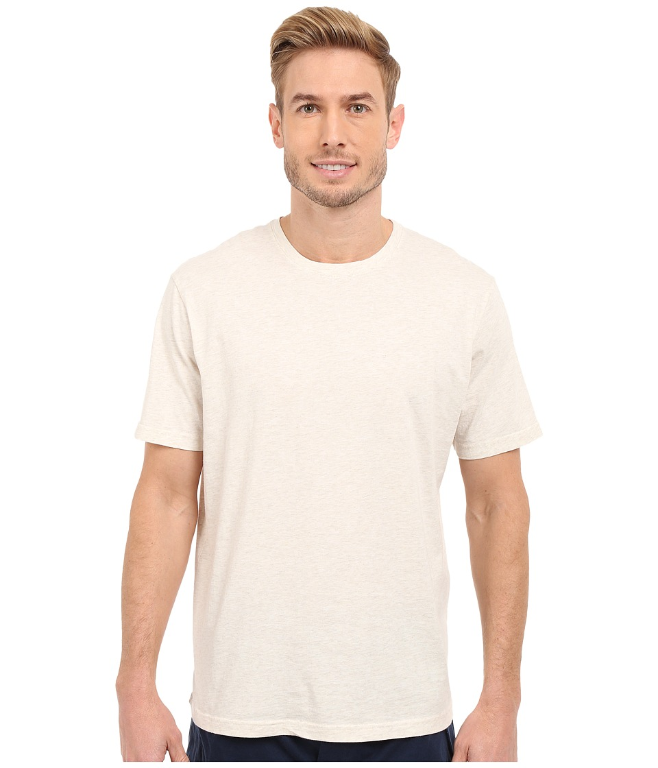 Mod-o-doc - Sunset Short Sleeve Crew (Oatmeal Heather) Men's Short Sleeve Pullover