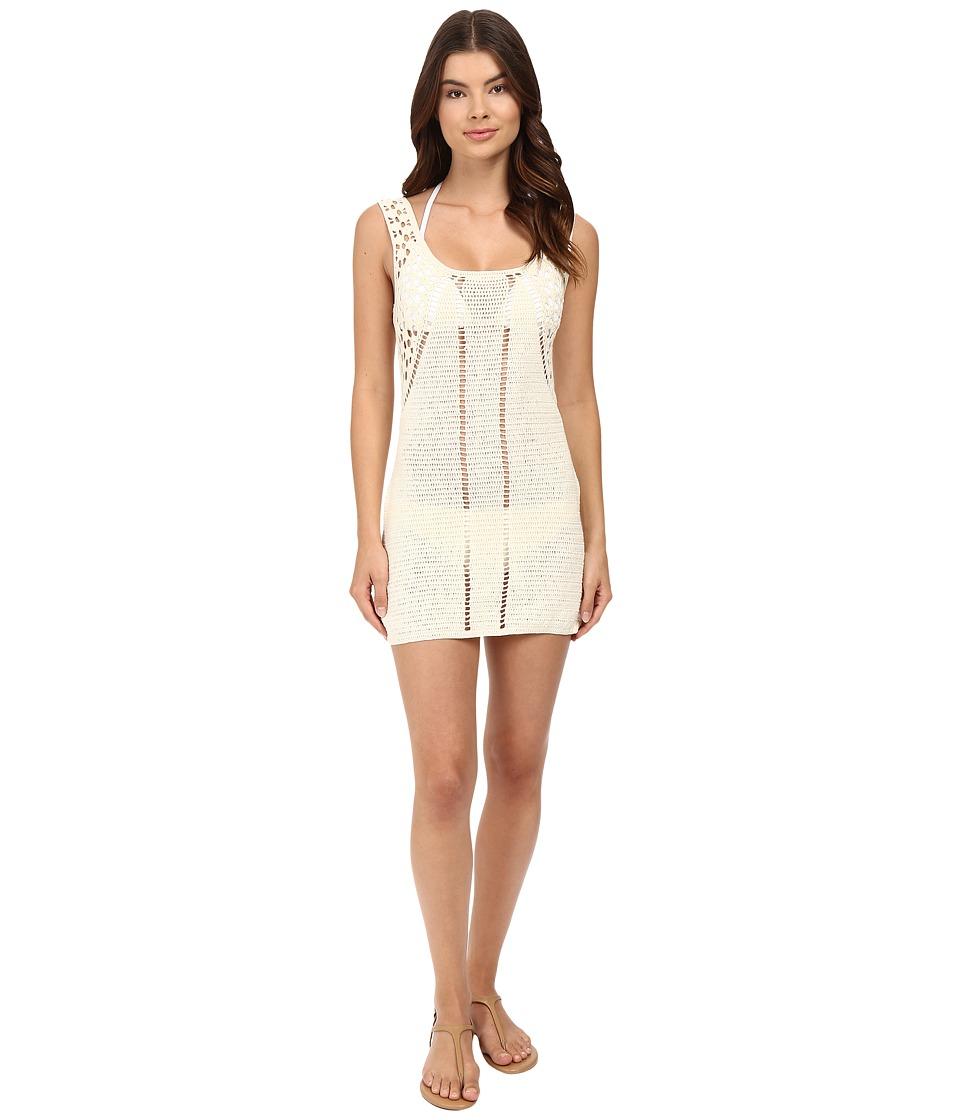 Vitamin A Swimwear - Nightbird Dress Cover-Up (Natural Crochet) Women's Swimwear