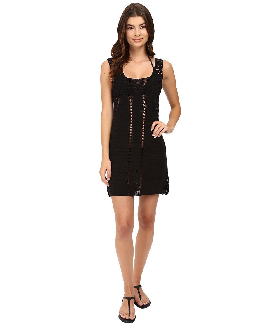 Vitamin A Swimwear - Nightbird Dress Cover-Up (Black Crochet) Women's Swimwear